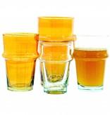 Verre Beldi Handgeblazen glas - Oranje 20cl
