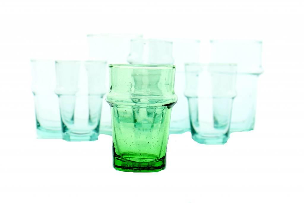 Verre Beldi Verre à thé soufflé - Vert 12cl