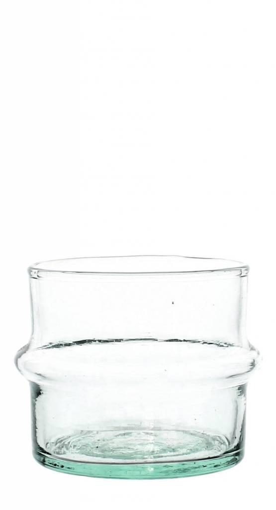 Verre Beldi Vase soufflé à la bouche - Transparant 9cm S