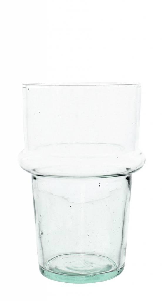 Verre Beldi Vase soufflé à la bouche - Transparant 20cm M