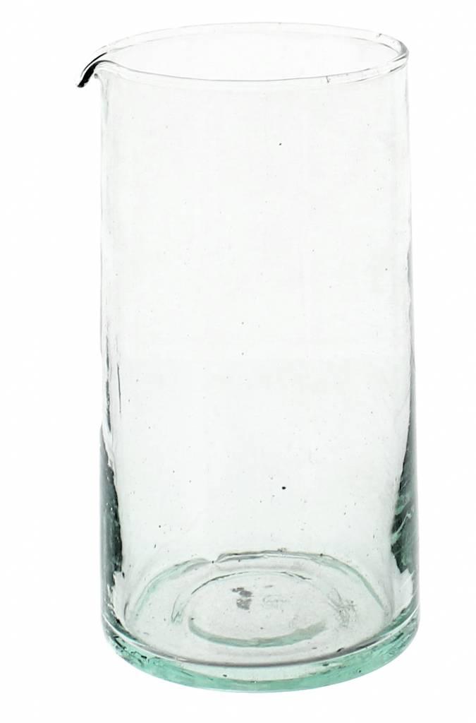 Verre Beldi Carafe verre soufflé 1L - Transparant sans poignée