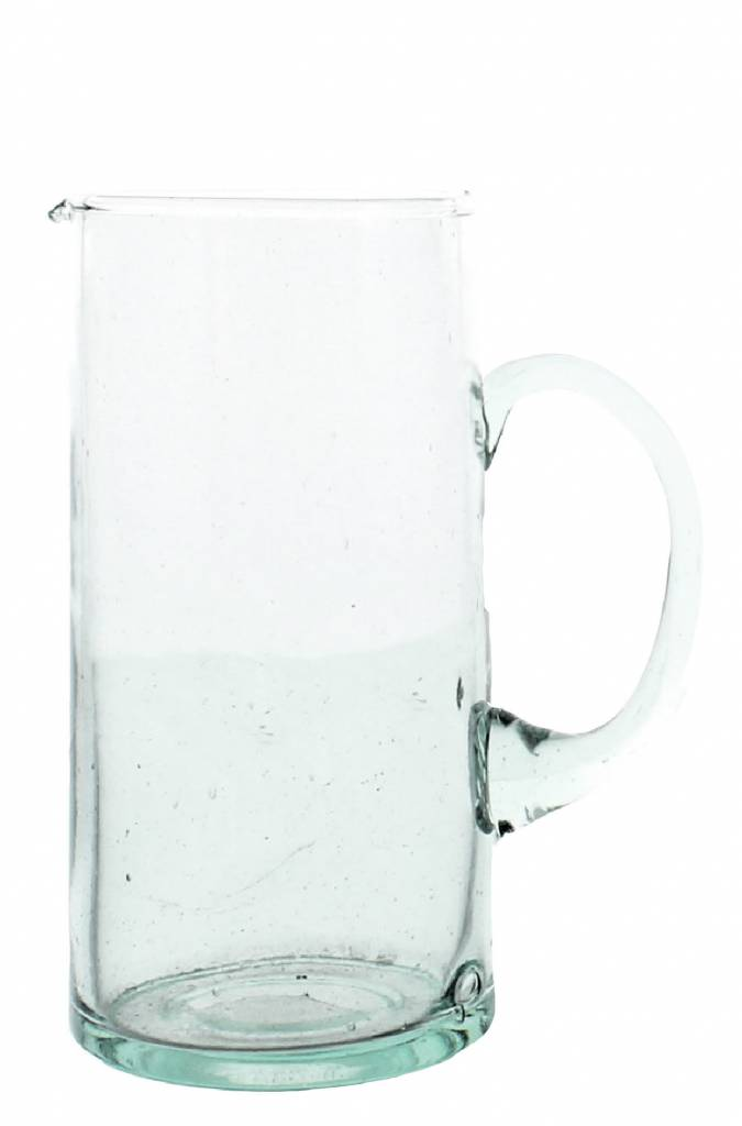 Verre Beldi pitcher mouthblown glass 1L