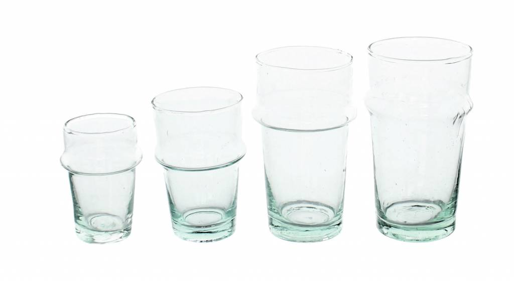 Verre Beldi mouthblown tea glass clear 12cl