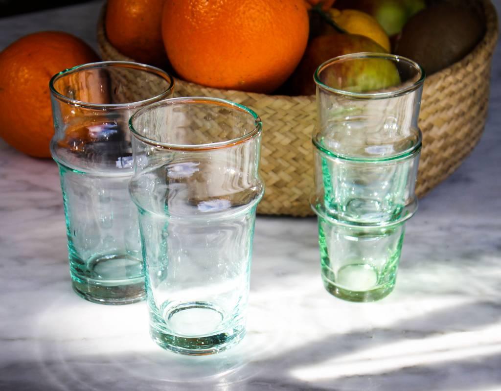 Verre Beldi verre soufflé transparant