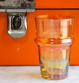 Verre Beldi mouthblown glass orange