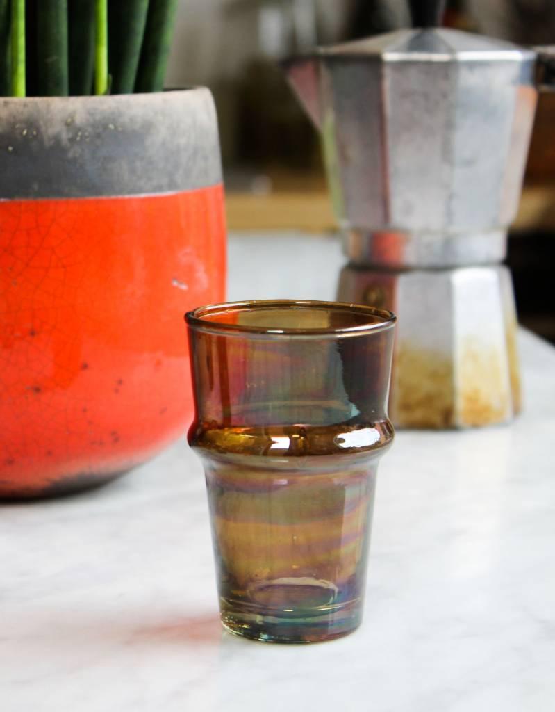 Verre Beldi Handgeblazen glas - Gerookt glas