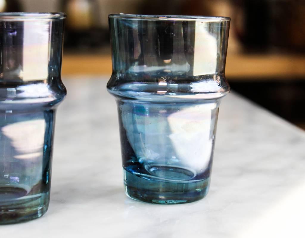 Verre Beldi Handgeblazen glas - Blauw
