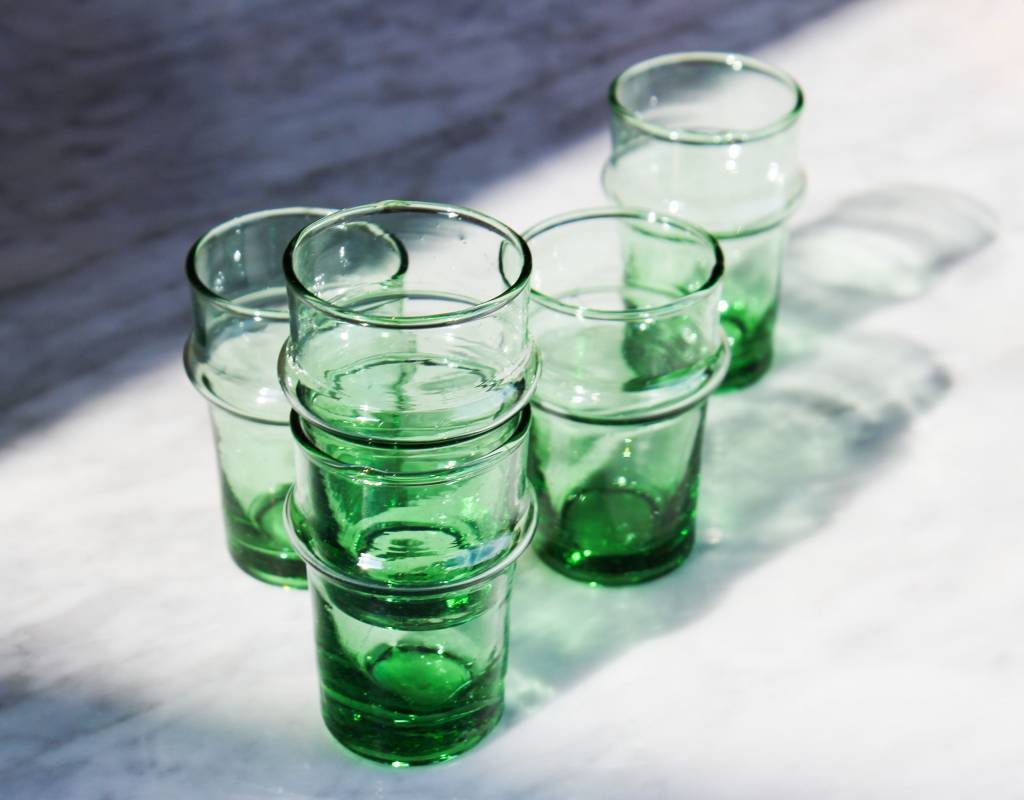 Verre Beldi Verre soufflé - Vert