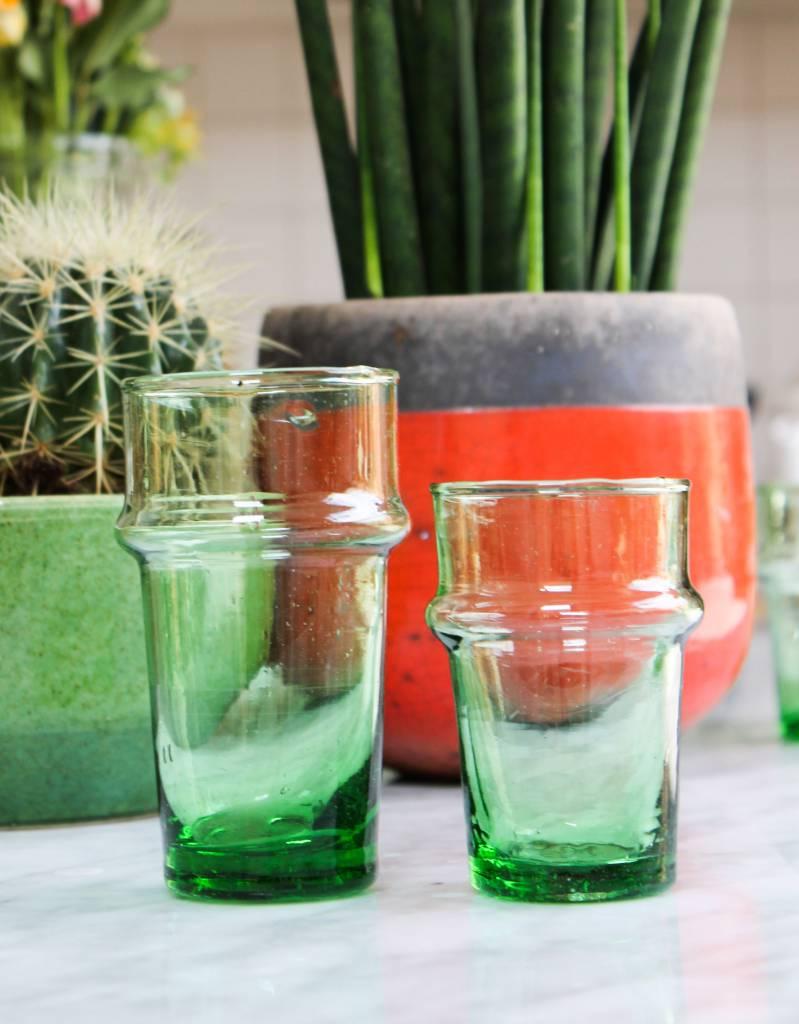 Verre Beldi mouthblown glass green