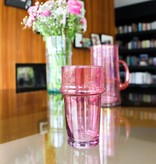 Verre Beldi mouthblown glass pink