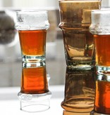 Verre Beldi mouthblown glass smoked