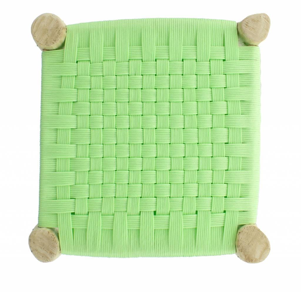 Les Maures Collection Tabouret tressé marocain - Vert