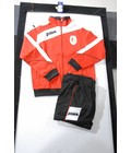 STANDARD : Survetement polyester rouge/noir