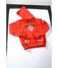 STANDARD : Sweater met kap rood