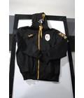 STANDARD : Sweater met kap en rits in katoen zwart junior