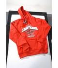 STANDARD : Sweater met kap in katoen rood