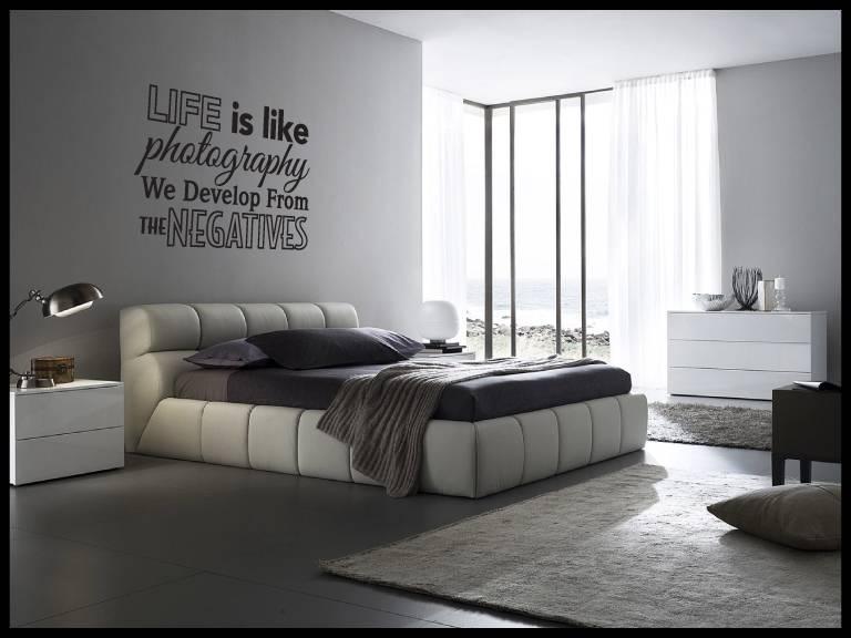 Muurtekst slaapkamer - woonkamer Life is like photography. We develop ...