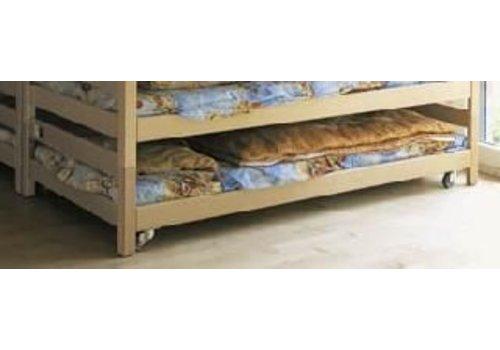 Conen Holzstapelliege mit Polster, fahrbar