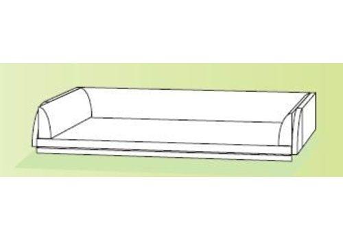 Conen Wickelauflage Kunstleder beige B/H/T 121x20x73 cm
