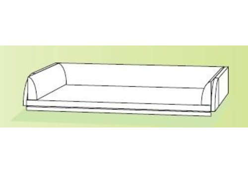 Conen Wickelauflage Kunstleder beige B/H/T 121x20x88 cm