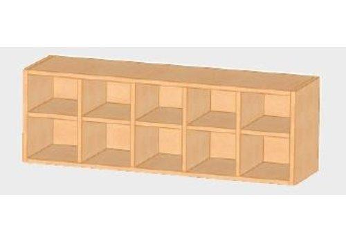 Conen Windelregal mit 10 Fächern, B/H/T: 120x45x32 cm, Buche Dekor