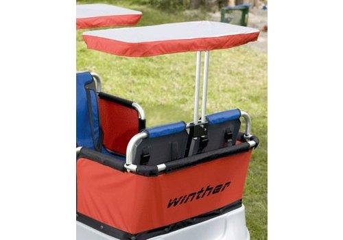 Jakobs Sonnenschutz für 2 Sitzplätze (für den Turtle Kinderbus Basic für 6 oder 4 Kinder)