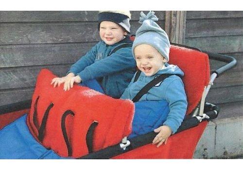 Jakobs Fußsack für 2 kleine Kinder  (für den Turtle Kinderbus de Luxe, für 6 oder 4 Kinder)