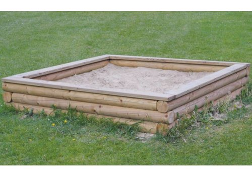 Sandkasten groß (mit Sitzbohle) Douglasie / Lärche PH33-002-3