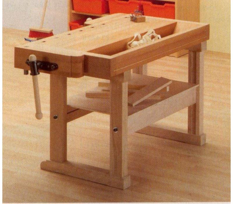 kinder hobelbank werkbank 125x70x67 cm elementarbereich. Black Bedroom Furniture Sets. Home Design Ideas