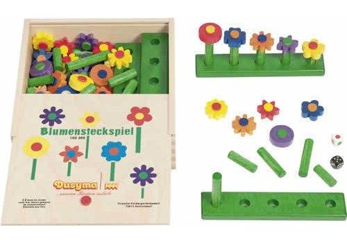 Dusyma Blumensteckspiel im Holzkasten