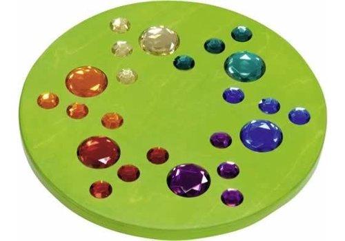 Dusyma Juwelenkreisel grün