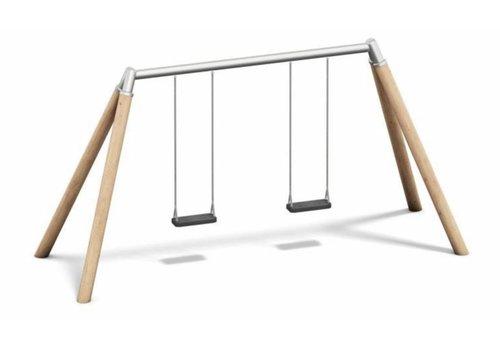 2-Platz-Schaukel, Holz/Metall