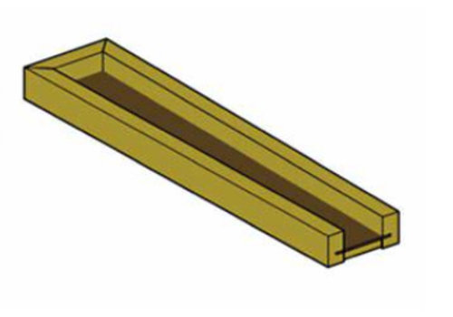 Mini-Rinne 100 cm lang Trapezform PH-43-031 Douglasie / Lärche