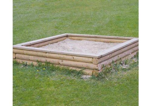 Sandkasten groß (mit Sitzbohle) Eiche Douglasie / Lärche PH33-002-4