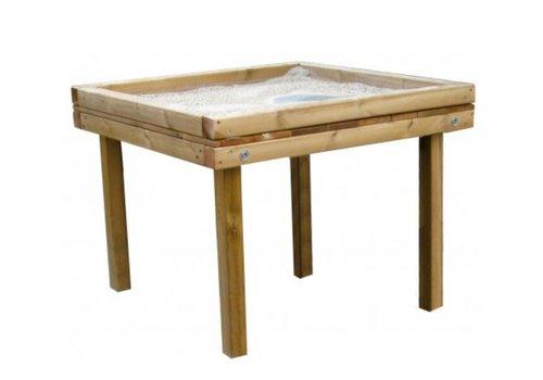 Elementarbereich-Roth Robinien Sandspieltisch - extra hoch für Rollstuhlfahrende
