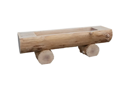 Elementarbereich-Roth Holztrog Lärche ø 55 cm Länge 100 cm (nach Wunsch bis 2,40 m)