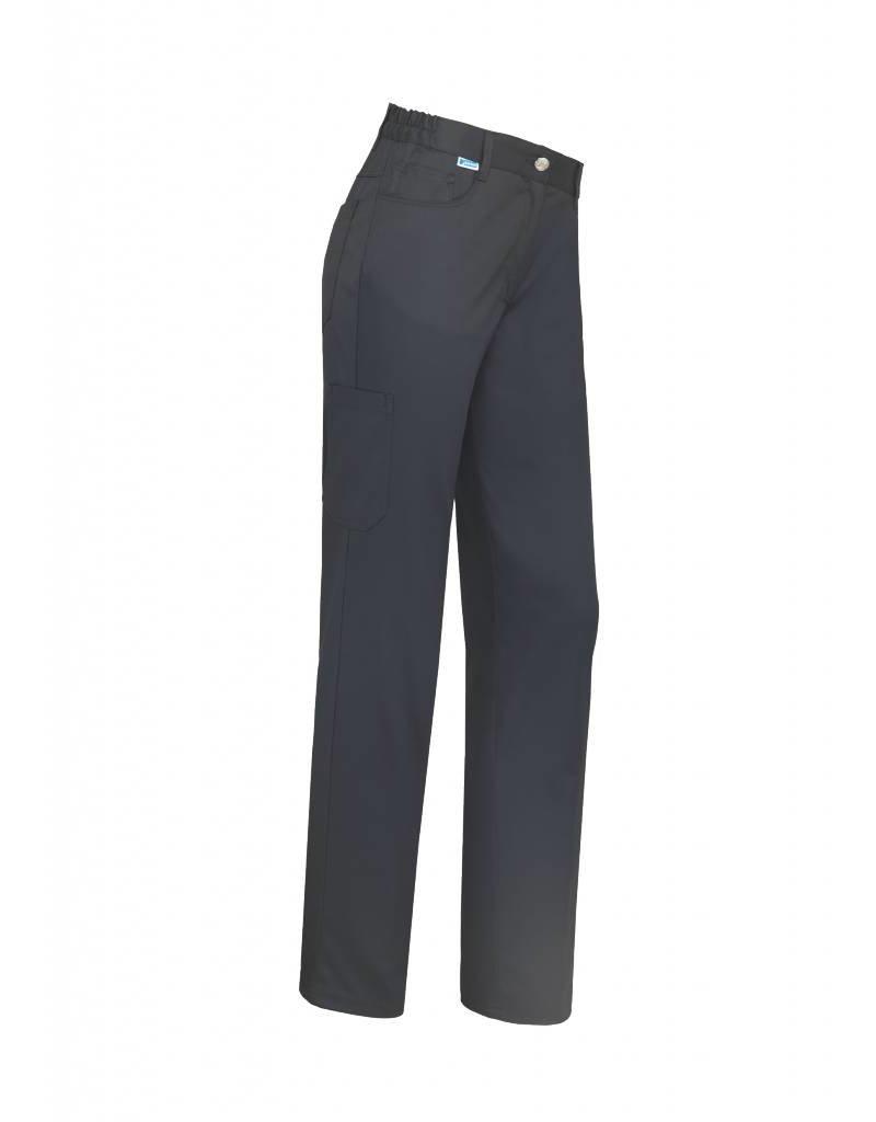 De Berkel Dames broek Thea, in kleuren Wit, Zwart.