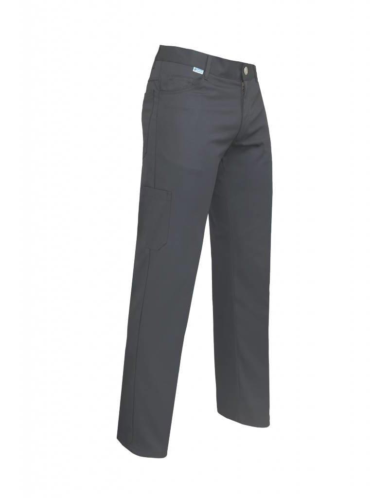 De Berkel Heren broek Theo, in kleuren Wit, Zwart.