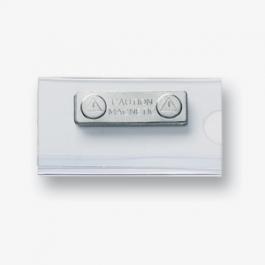 Naamplaatje magnetisch transparant 35X60 mm