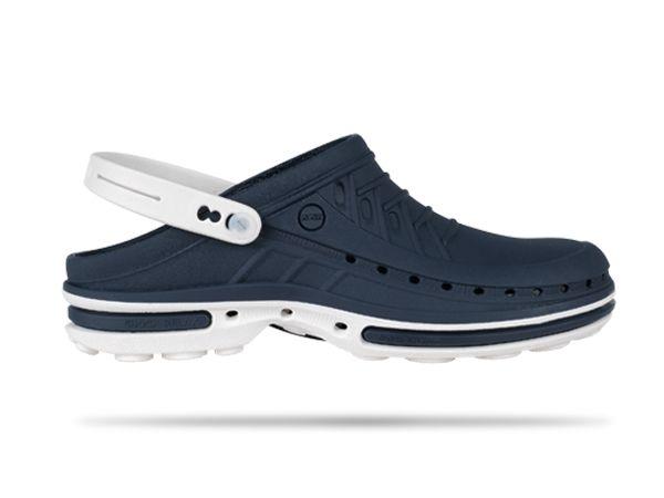 Wock Slipper Clog marineblauw/wit