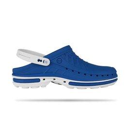 Wock Slipper Clog azuurblauw/wit