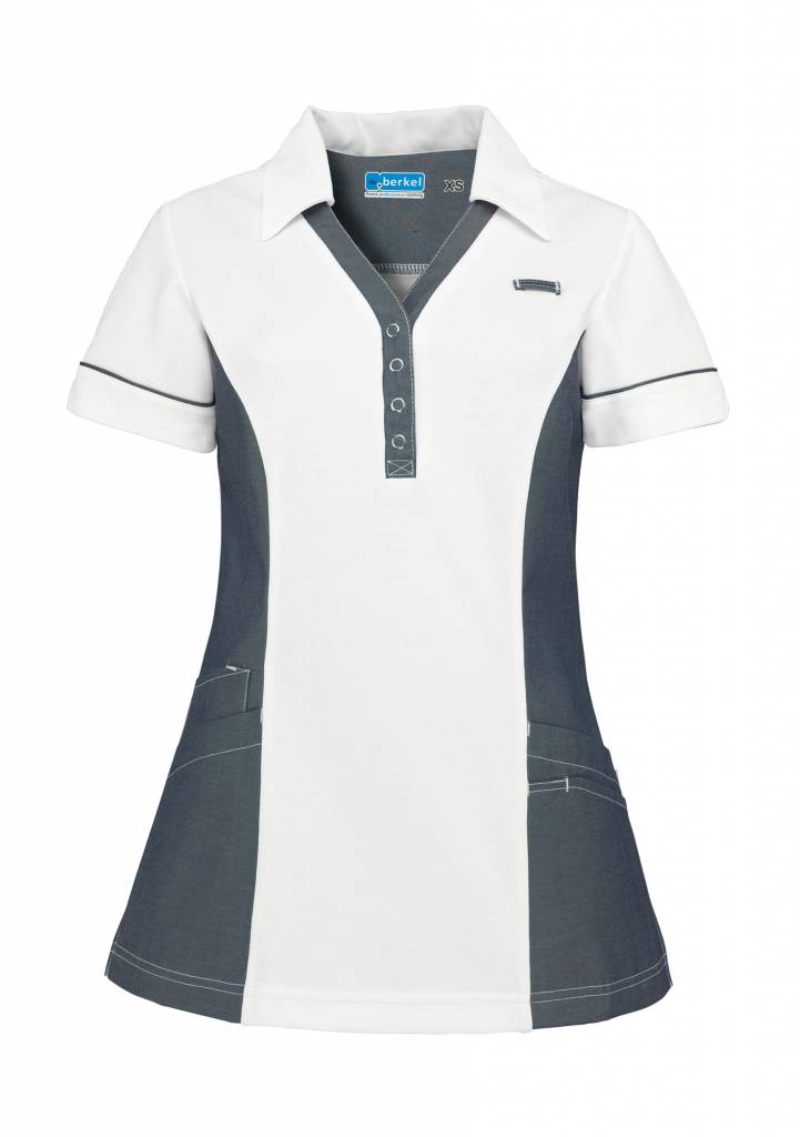 De Berkel Dames Polo Trix wit-denim