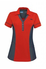 De Berkel Dames Polo Trix rood-denim