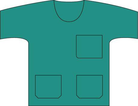 Molnlycke Omlooppak basic shirt groen