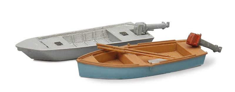 Fishing boats modern (2x), 1:87 resin kit, unpainted