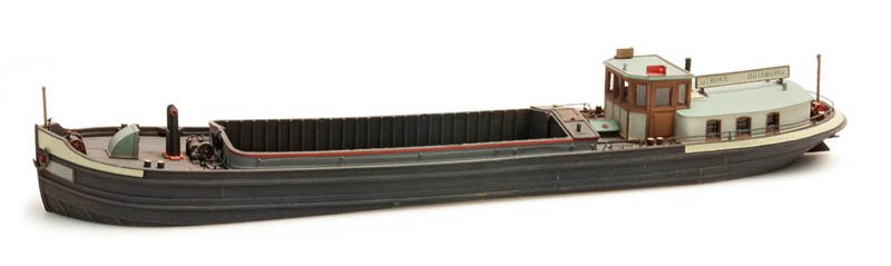 120-ton Rhine river barge - resin kit - 1:87