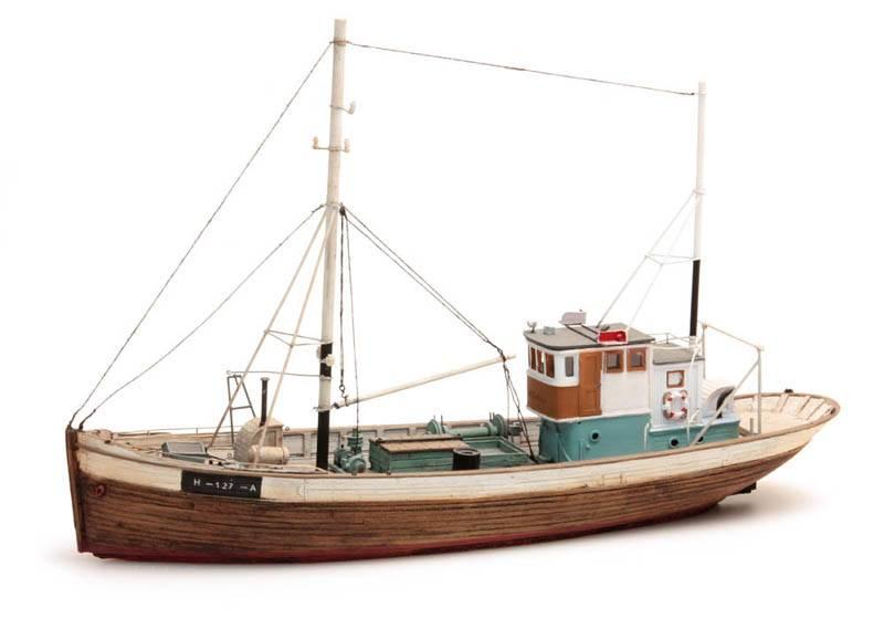 Noorse vissersboot Framtid I waterlijn