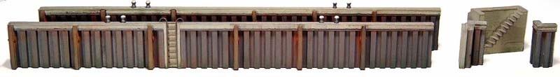 Kaimauer aus Spundwand 1:87 Bausatz ausResin (PU), unlackiert