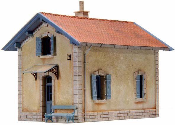 French crossing-guards house PLM (Compagnie Paris-Lyon-Méditerranée), 1:87, resin kit, unpainted