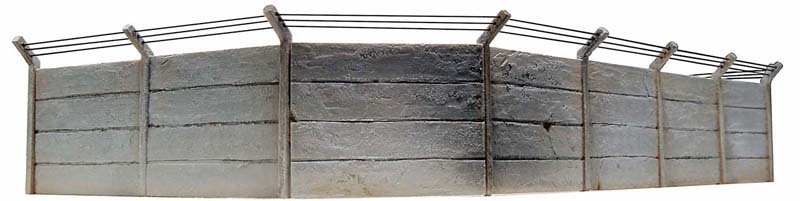 Concrete wall set, 1:87, resin kit, unpainted